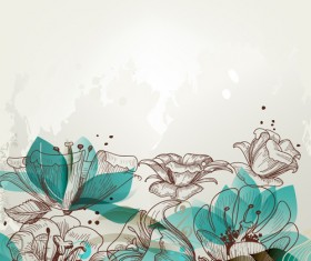 Hand drawn Floral background 03