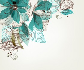 Hand drawn Floral background 05