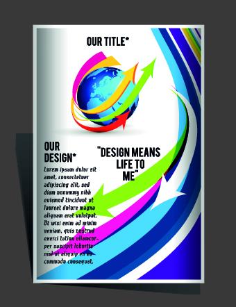Modern Flyers and brochure design vector 01