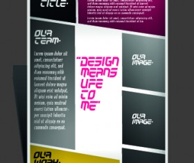 Modern Flyers and brochure design vector 04