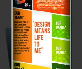 Modern Flyers and brochure design vector 05