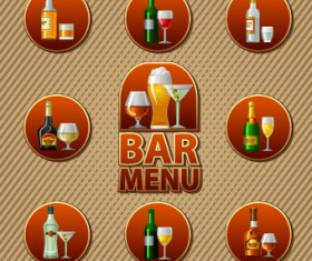 Various Food and drink design vector 02