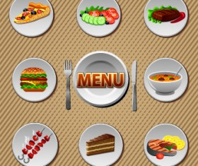 Various Food and drink design vector 03