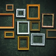 Link toVintage frame on the wall vector 01
