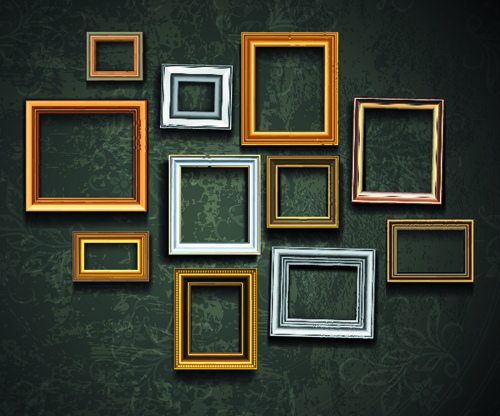 Vintage Frame on the wall vector 01 free download