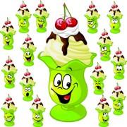 Link toFunny cartoon food expression vector 03