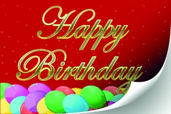 Funny Happy Birthday vector background 02