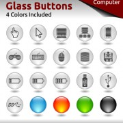 Link toGlass buttons for web design vector 01