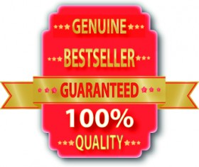Guaranteed 100% quality label vector 01