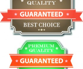 Guaranteed 100% quality label vector 02