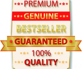 Guaranteed 100% quality label vector 03