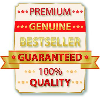 Guaranteed 100% quality label vector 03