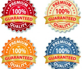 Guaranteed 100% quality label vector 04