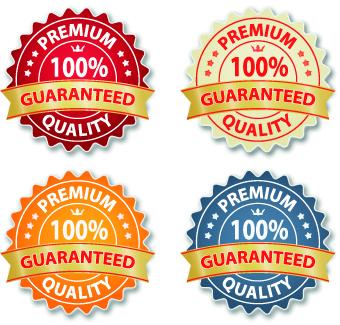 Guaranteed 100% quality label vector 04