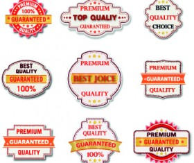 Guaranteed 100% quality label vector 05