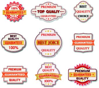 Guaranteed 100% quality label vector 05