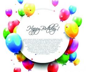 Colored Happy Birthday balloons vector 02