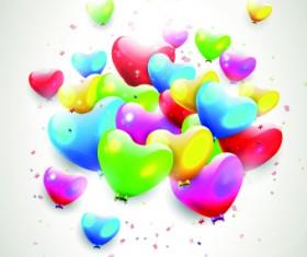 Colored Happy Birthday balloons vector 04
