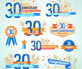 Happy anniversary Celebration design vector 01