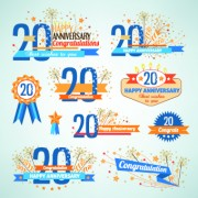 Link toHappy anniversary celebration design vector 02