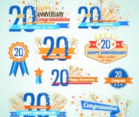 Happy anniversary Celebration design vector 02