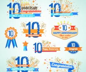 Happy anniversary Celebration design vector 03
