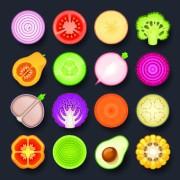 Link toVivid food icon design vector 02