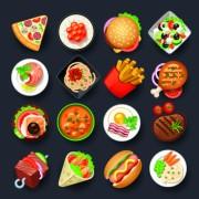 Link toVivid food icon design vector 05