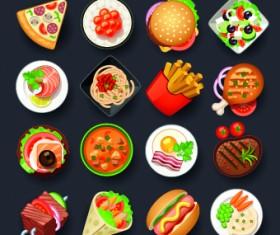 Vivid food icon design vector 05