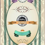 Link toBest retro quality labels vector 02