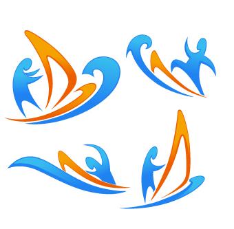 Abstract style Logos design vector 03