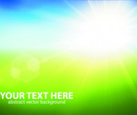 Natural with sun background vector 03