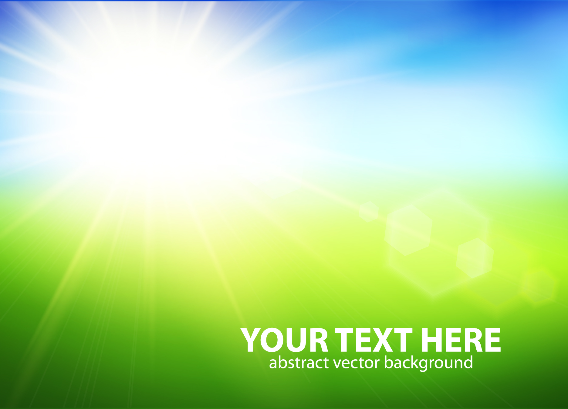 Natural With Sun Background Vector 04 Free Download