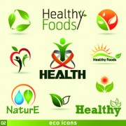 Link toOrganic food logos and labels vector 01