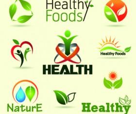 Organic food logos and labels vector 01