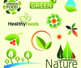 Organic food logos and labels vector 02