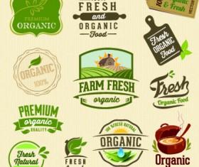 Organic food logos and labels vector 03