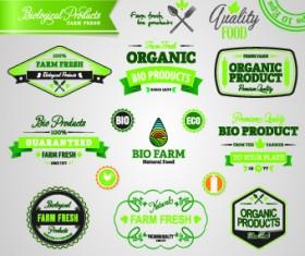 Organic food logos and labels vector 07