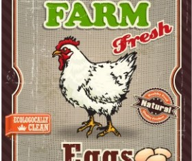 Retro Food Poster vector set 04