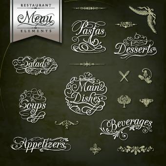 restaurant menus calligraphy design vector free download