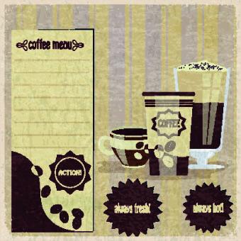 Retro Coffee advertising posters vector 01