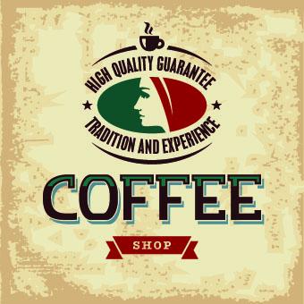 Retro Coffee advertising posters vector 02