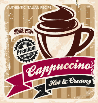 Retro Coffee advertising posters vector 03