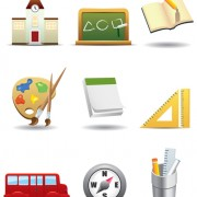Link toSet of school design elements vector 07