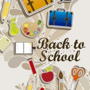 Link toHand drawn school elements vector 03