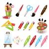 Multicolor School icon vector 01