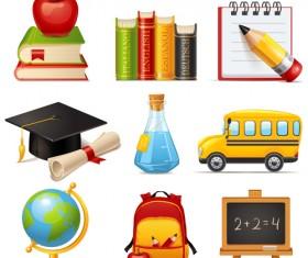 Multicolor School icon vector 02