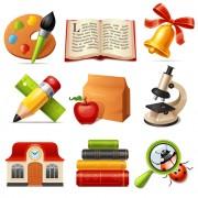 Link toMulticolor school icon vector 03