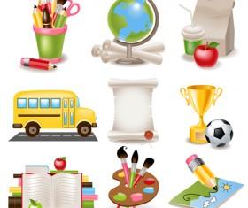 Multicolor School icon vector 04