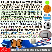 Link toDifferent sport silhouettes vector 02